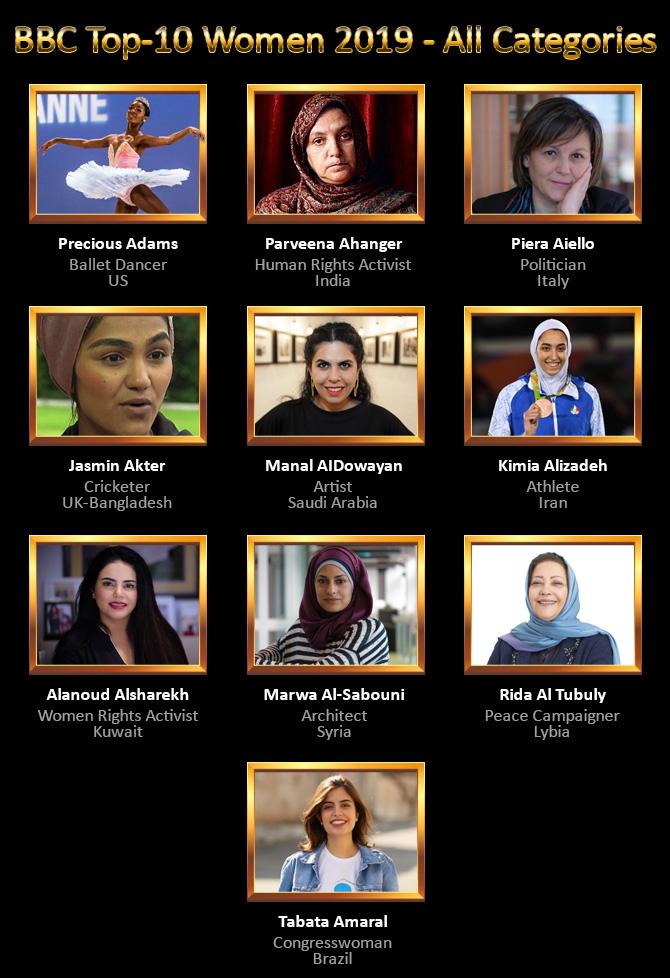BBC Top 10 Women 2019