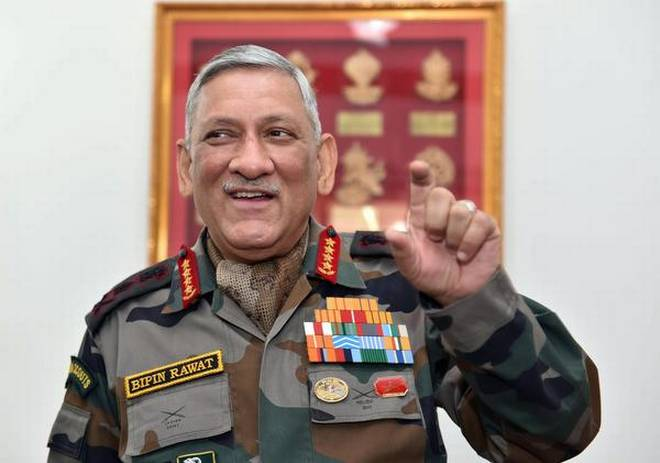 Indian Army General Bipin Rawat