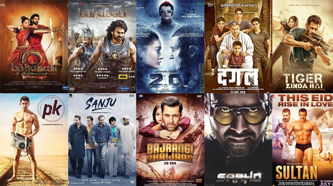 Indian Films in the Top 20 Highest-Grossing At Box-office
