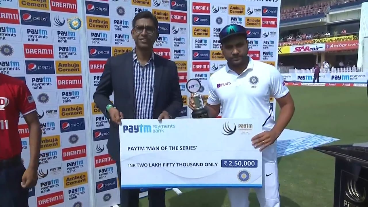 Player of the Series: Rohit Sharma (India)