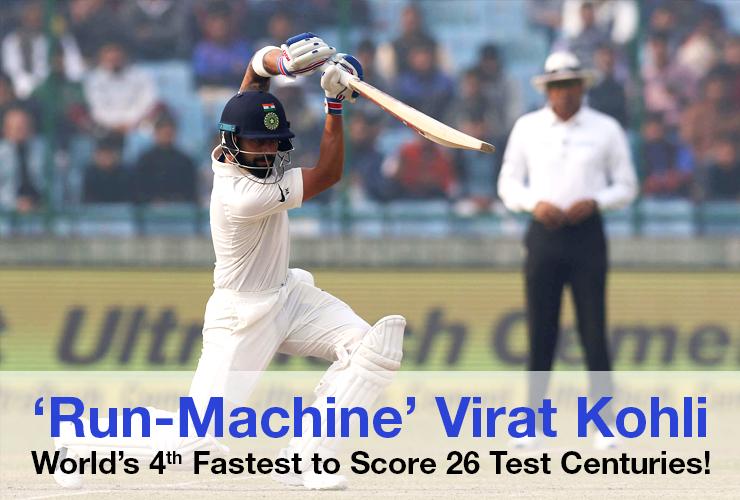'Run-Machine' Virat Kohli- World's 4th Fastest to Score 26 Test Centuries!