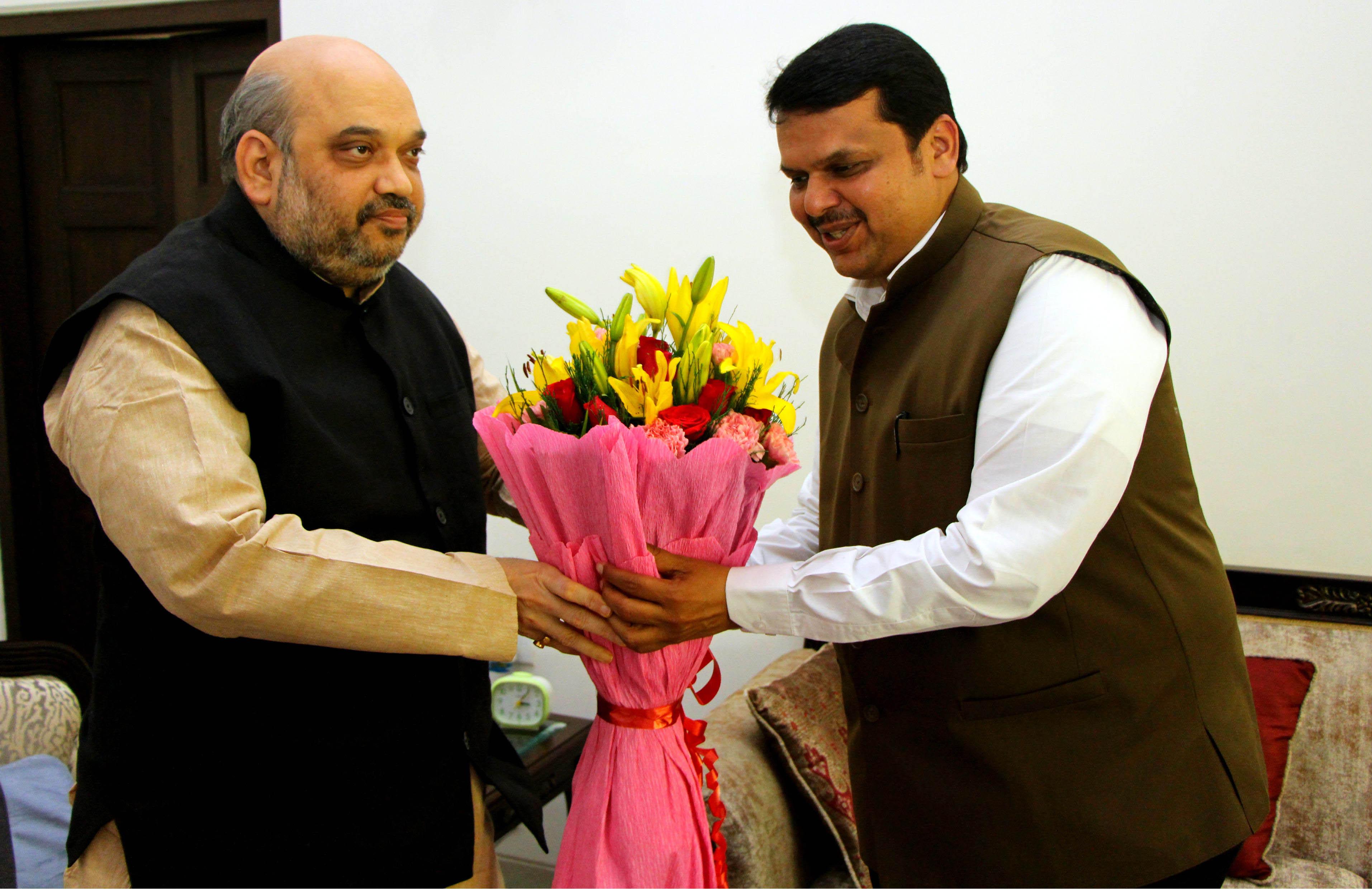 Amit Sha and Devendra ji Meeting