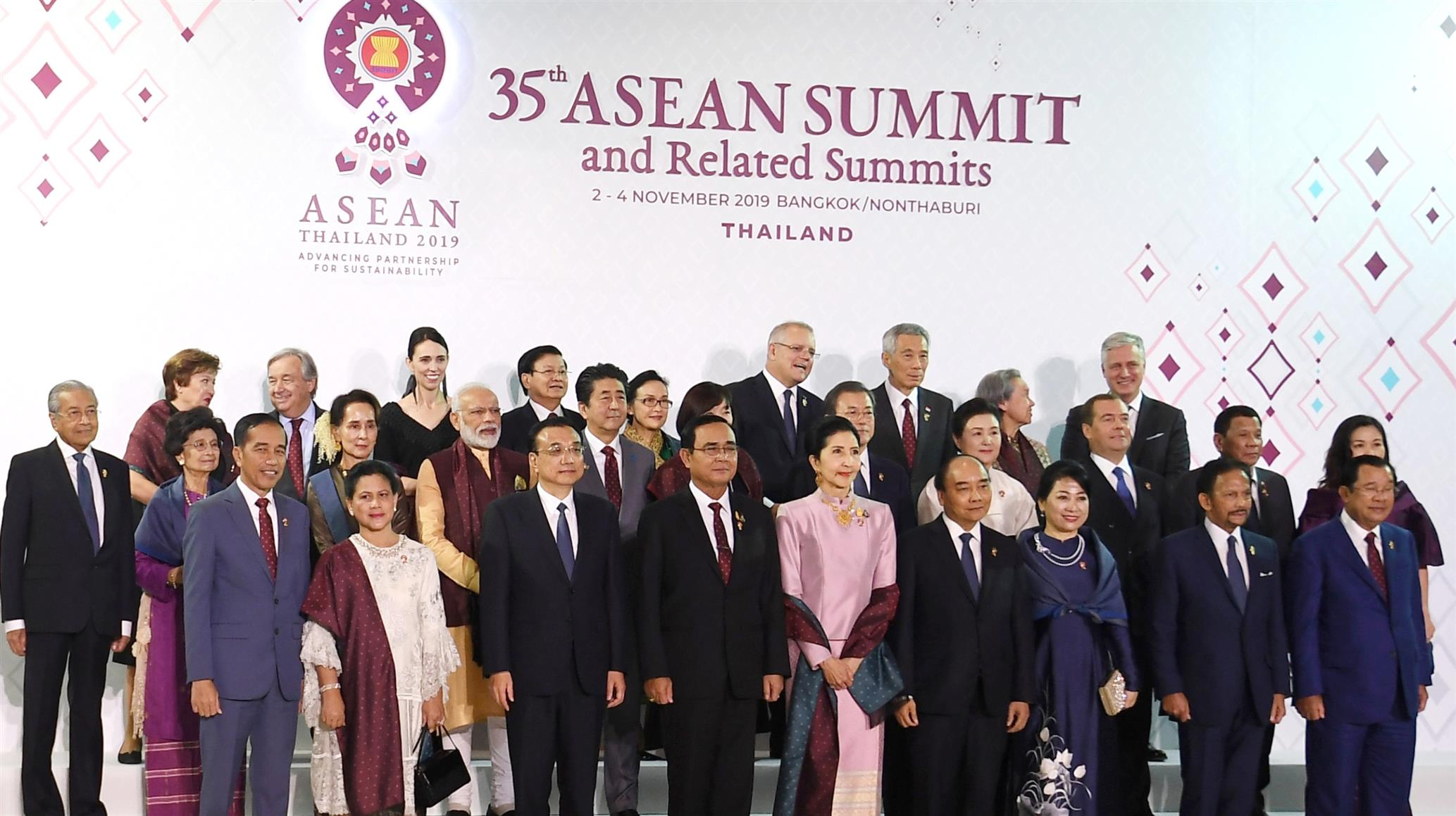 Group photograph 35th ASEAN Summit and Related Summits Bangkok, Thailand