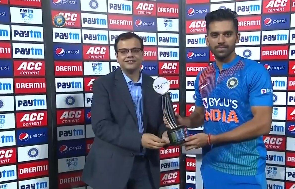 Player Of The Match - Deepak Chahar (India)