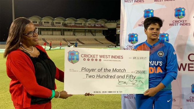 Shafali Verma  Player of the match
