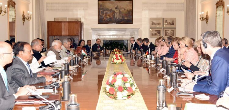 Two Countries Cooperating India and Germany