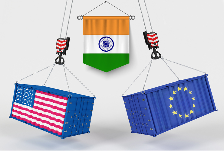 India Trade Negotiations with US, EU On Cards