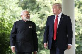 Donald Trump Arrives in Ahmedabad