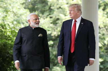 Donald Trump Arrives in Ahmedabad