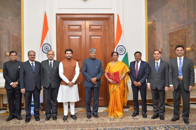 Indian Finance Minister Meet with President Before Budget 2020-21