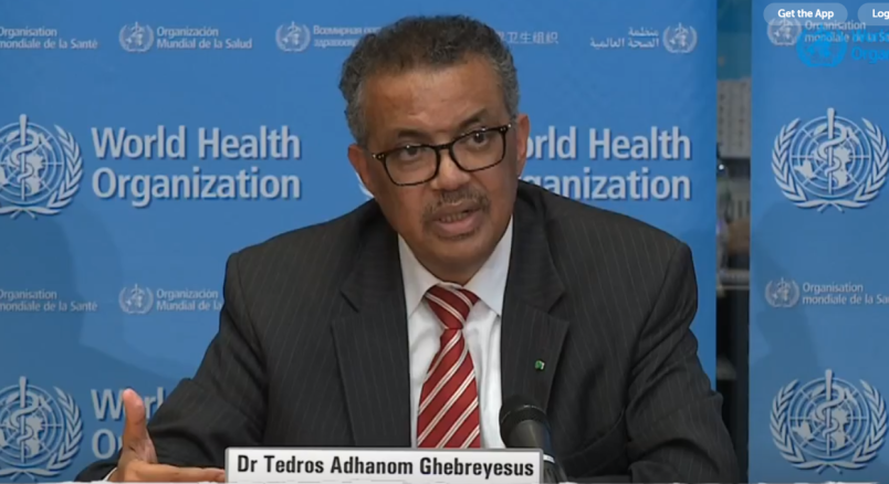 WHO Director General DR Tedros Adhanom