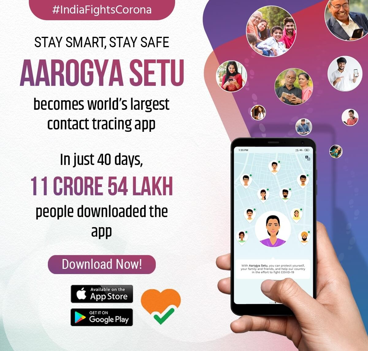 Aarogya Setu - World's Largest Contact Tracing App