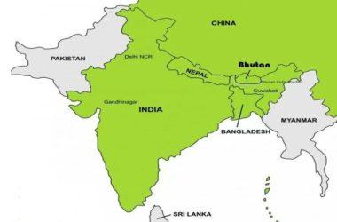 India Borders Bhutan, China, Pak and Nepal
