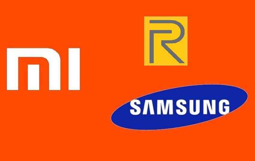 Samsung, Realme and Xiaomi