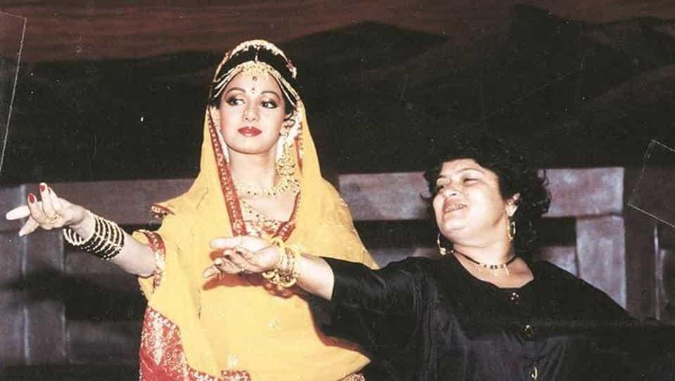 Saroj Khan with Actress Sridevi