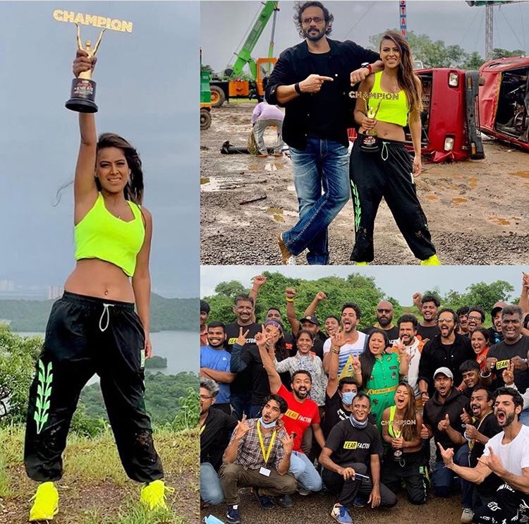 Nia Sharma won the trophy for winning Khatron Ke Khiladi