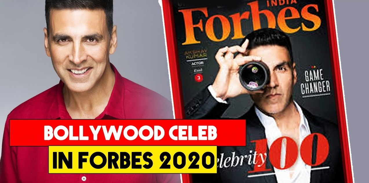 Akshay Kumar Bollywood Star in Forbes