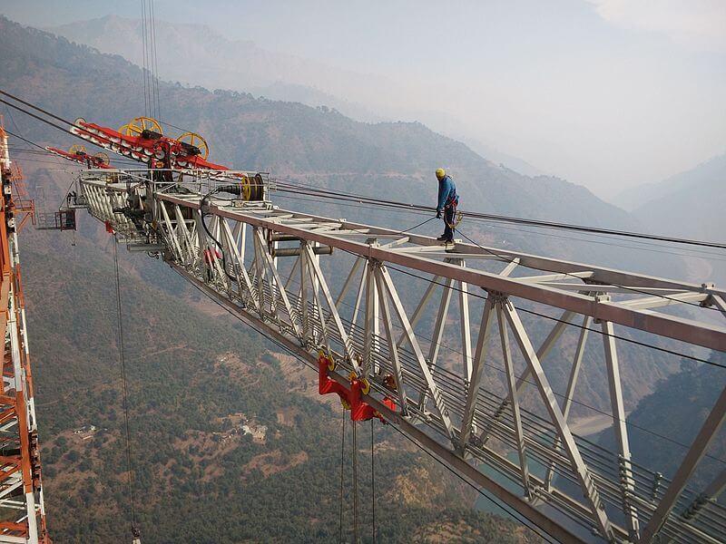 Jammu and Kashmir Railway Bridge Construction