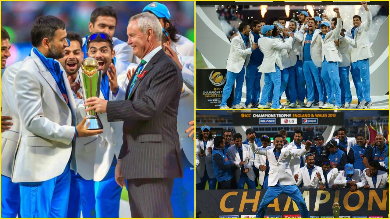 MS Dhoni in 2013 ICC Champions Trophy