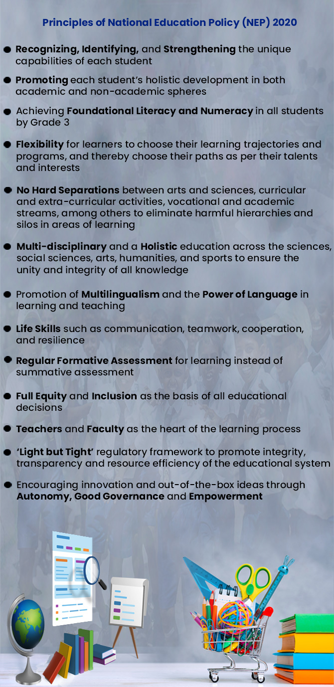 Principles of National Education Policy (NEP) 2020