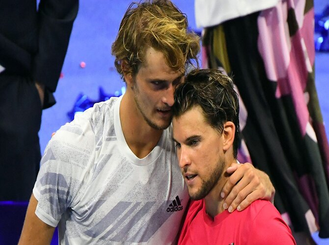 Dominic Thiem and Alexander Zverev