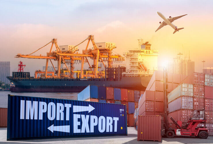 How has the Covid-19 pandemic affected India's import and export business?