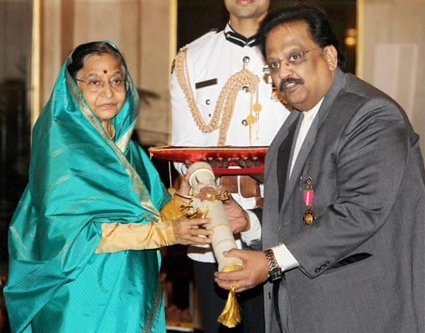 Padma Shri Award, Padma Bhushan Award Winner S.P. Balasubrahmanyam
