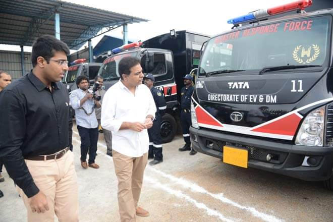 Disaster Response Force (DRF) and Greater Hyderabad Municipal Corporation (GHMC)