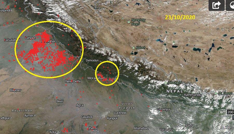 NASA Satellite Images Depict Stubble Burning in Punjab, Haryana!