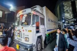 Trucks Carrying Covishield Vaccine
